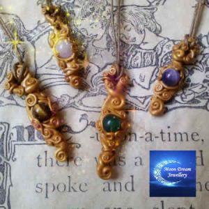 Moon Dream Gemstone Pendants